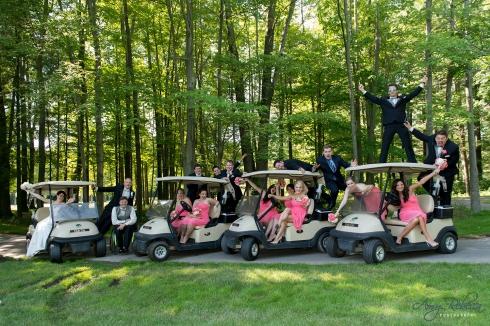 Megan and Jordan - golf carts