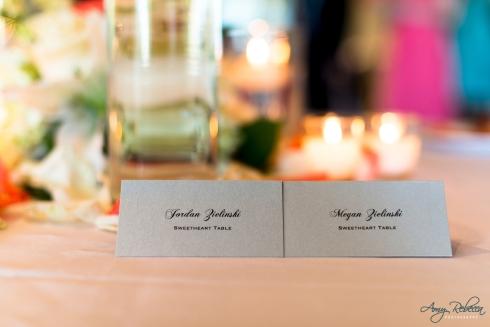 Megan and Jordan - place cards