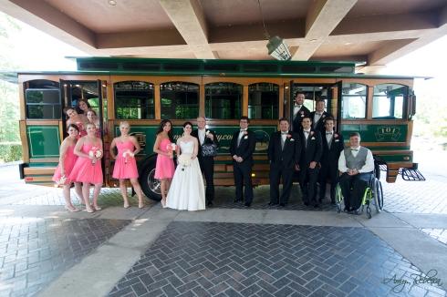 Megan and Jordan - trolley