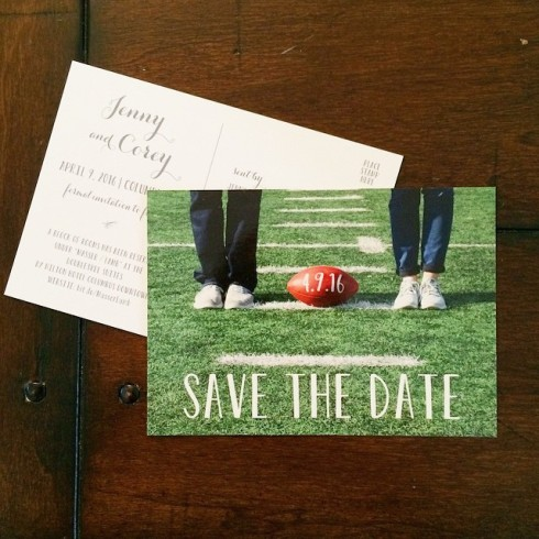 Jenny and Corey Save the Date